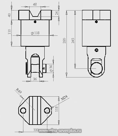 Схема габаритных размеров